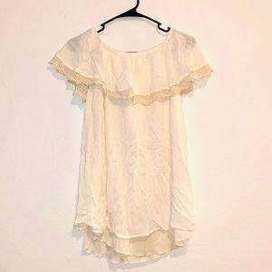 Over the shoulder mini dress